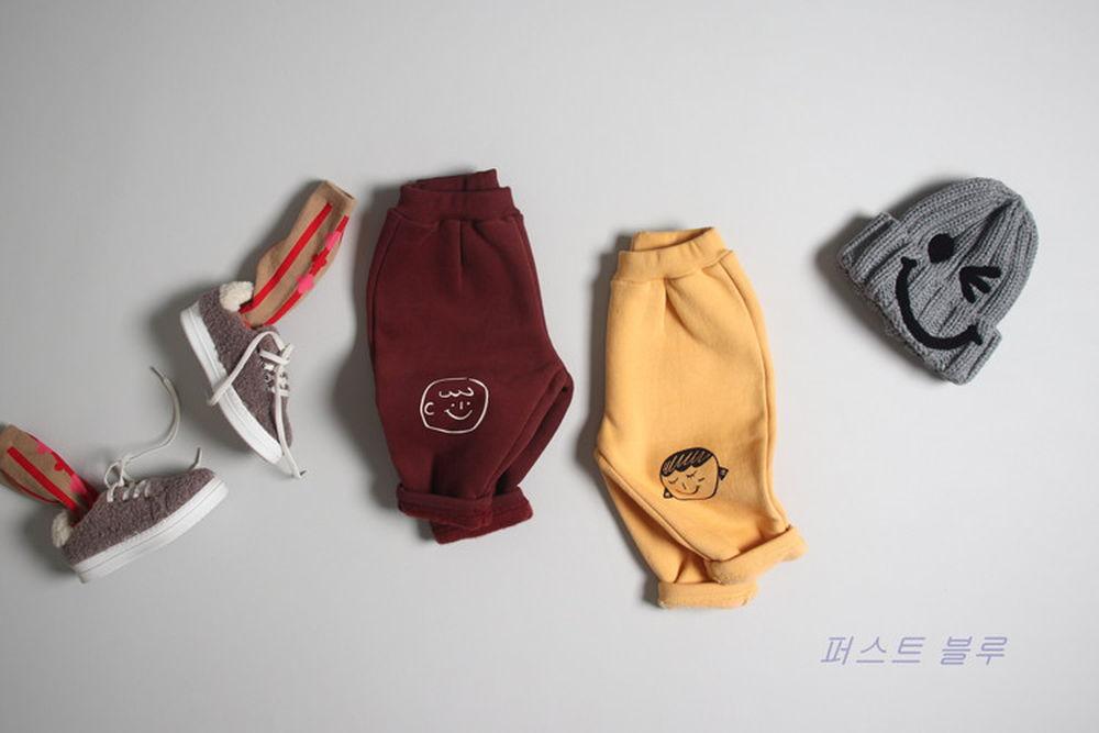 1ST BLUE - BRAND - Korean Children Fashion - #Kfashion4kids - Hello Friend Pants
