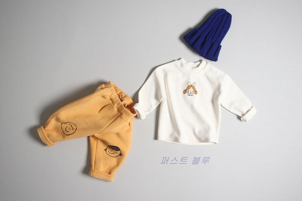 1ST BLUE - BRAND - Korean Children Fashion - #Kfashion4kids - Hello Friend Tee