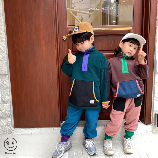 A-MARKET - Korean Children Fashion - #Kfashion4kids - Camper Fleece Top - 12