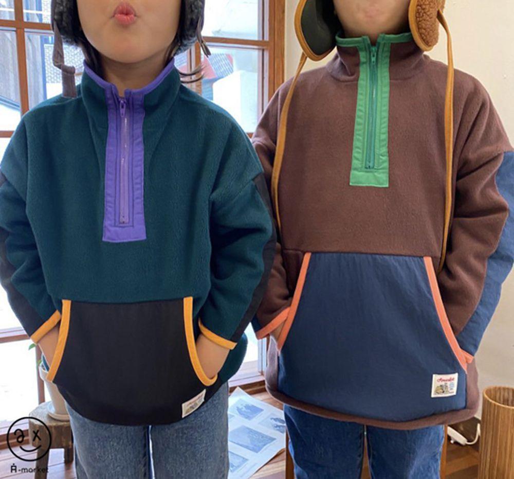 A-MARKET - BRAND - Korean Children Fashion - #Kfashion4kids - Camper Fleece Top
