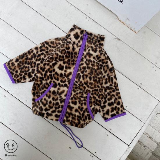 A-MARKET - Korean Children Fashion - #Kfashion4kids - Leopard Zip-up Jacket