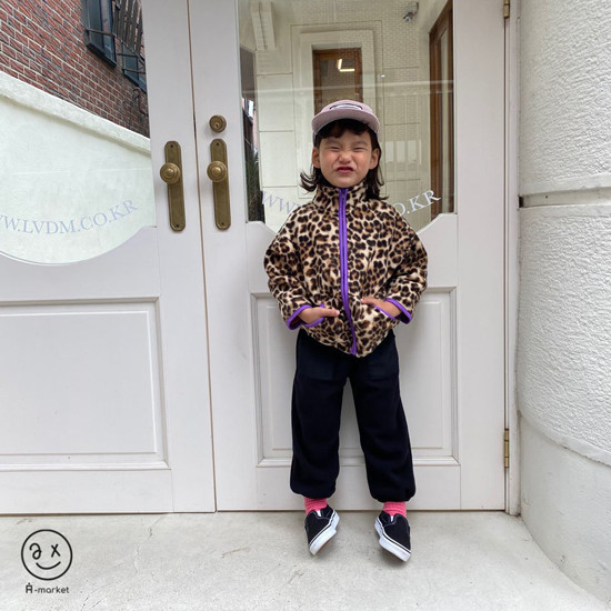 A-MARKET - Korean Children Fashion - #Kfashion4kids - Leopard Zip-up Jacket - 10