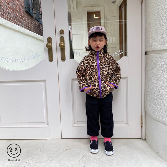 A-MARKET - Korean Children Fashion - #Kfashion4kids - Leopard Zip-up Jacket - 11