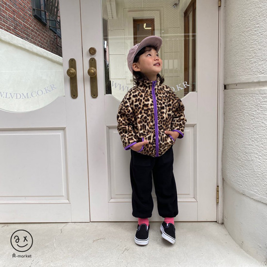 A-MARKET - Korean Children Fashion - #Kfashion4kids - Leopard Zip-up Jacket - 12