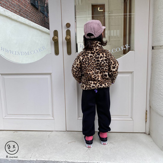 A-MARKET - Korean Children Fashion - #Kfashion4kids - Leopard Zip-up Jacket - 4