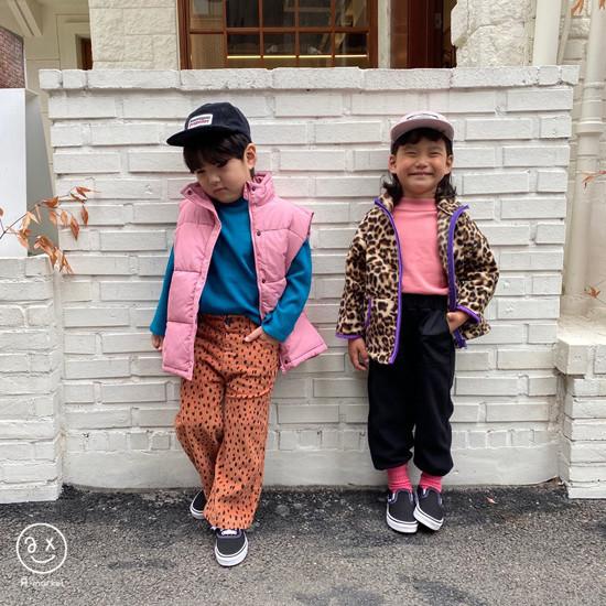 A-MARKET - Korean Children Fashion - #Kfashion4kids - Leopard Zip-up Jacket - 9