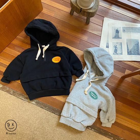 A-MARKET - Korean Children Fashion - #Kfashion4kids - Simple Mode Hood Sweatshirt