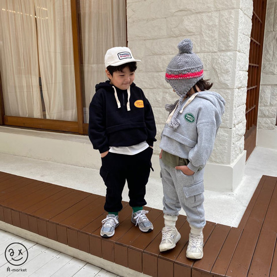 A-MARKET - Korean Children Fashion - #Kfashion4kids - Simple Mode Hood Sweatshirt - 11