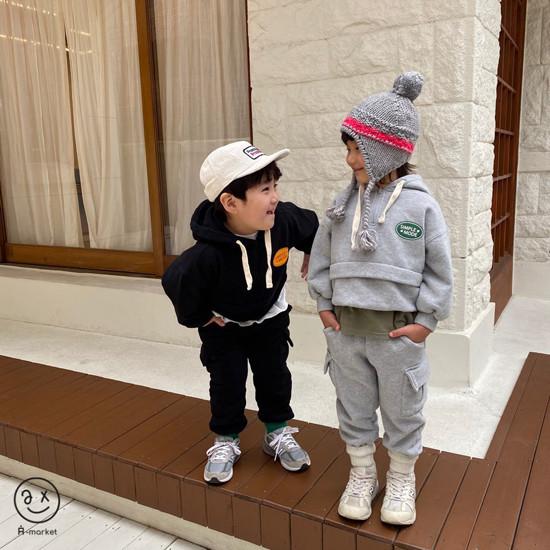 A-MARKET - Korean Children Fashion - #Kfashion4kids - Simple Mode Hood Sweatshirt - 12