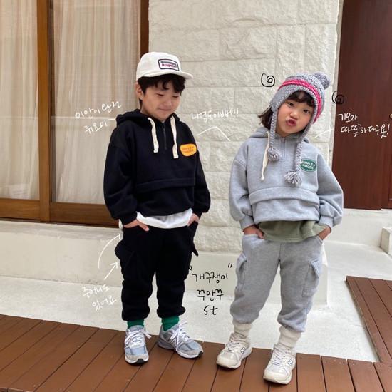 A-MARKET - Korean Children Fashion - #Kfashion4kids - Simple Mode Hood Sweatshirt - 3