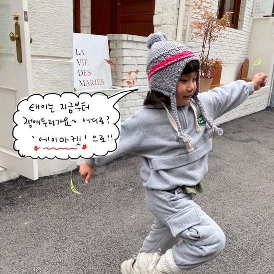A-MARKET - Korean Children Fashion - #Kfashion4kids - Simple Mode Hood Sweatshirt - 4