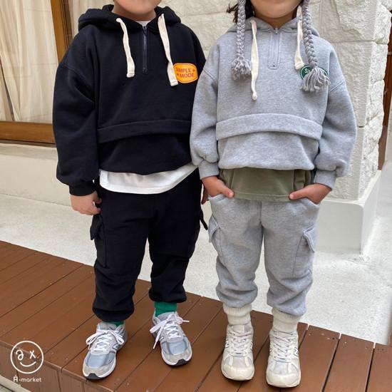 A-MARKET - Korean Children Fashion - #Kfashion4kids - Simple Mode Hood Sweatshirt - 5