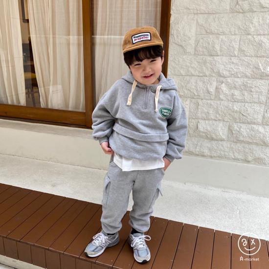 A-MARKET - Korean Children Fashion - #Kfashion4kids - Simple Mode Hood Sweatshirt - 8
