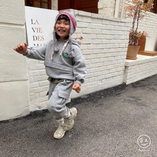 A-MARKET - Korean Children Fashion - #Kfashion4kids - Simple Mode Hood Sweatshirt - 9