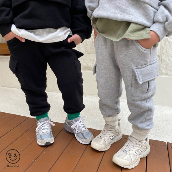A-MARKET - Korean Children Fashion - #Kfashion4kids - Fleece Jogger Pants