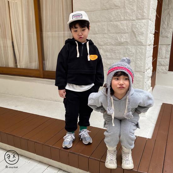 A-MARKET - Korean Children Fashion - #Kfashion4kids - Fleece Jogger Pants - 11