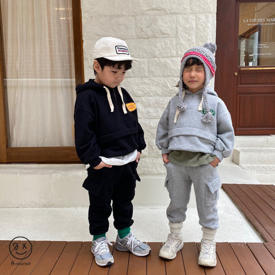 A-MARKET - Korean Children Fashion - #Kfashion4kids - Fleece Jogger Pants - 12