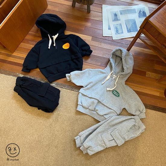 A-MARKET - Korean Children Fashion - #Kfashion4kids - Fleece Jogger Pants - 2