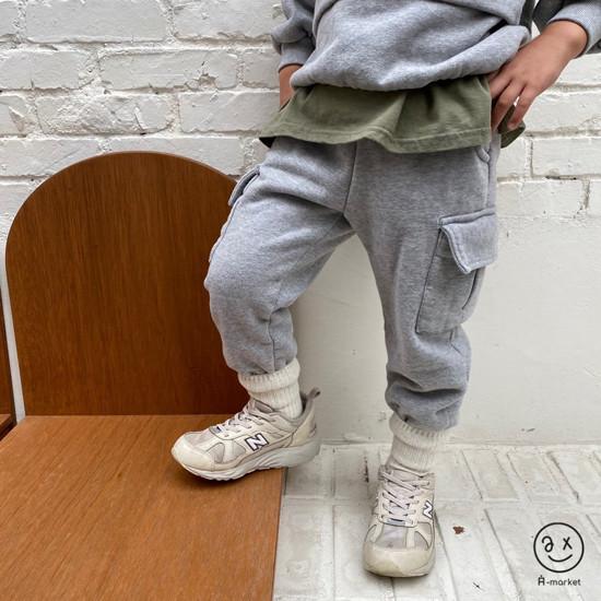 A-MARKET - Korean Children Fashion - #Kfashion4kids - Fleece Jogger Pants - 5