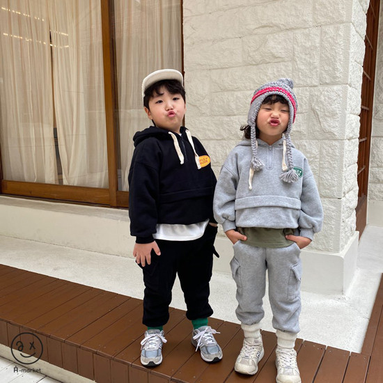 A-MARKET - Korean Children Fashion - #Kfashion4kids - Fleece Jogger Pants - 9