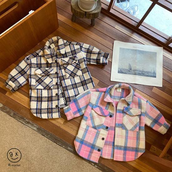 A-MARKET - Korean Children Fashion - #Kfashion4kids - Wool Check Shirt