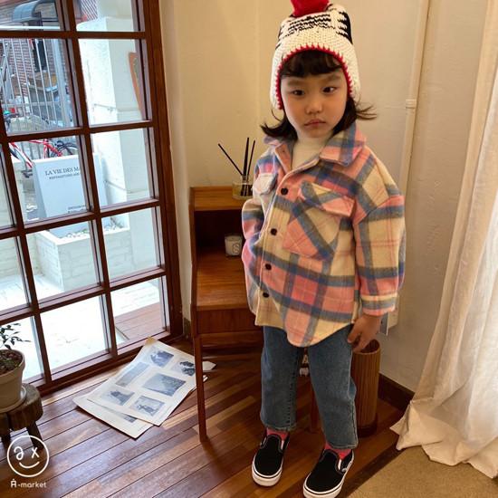 A-MARKET - Korean Children Fashion - #Kfashion4kids - Wool Check Shirt - 2