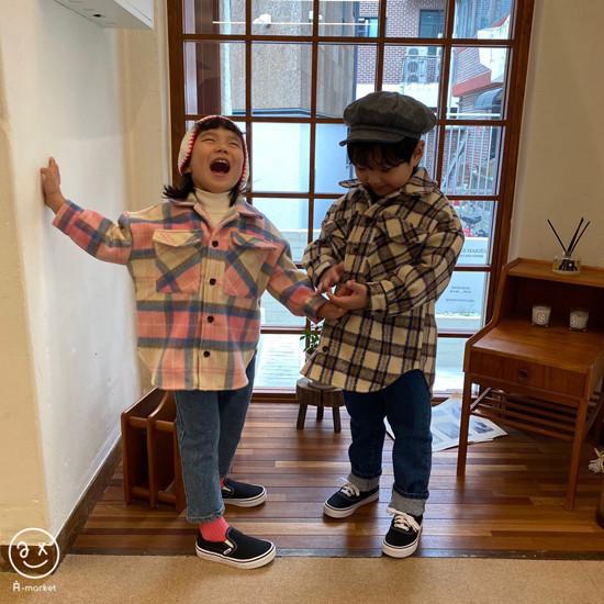 A-MARKET - Korean Children Fashion - #Kfashion4kids - Wool Check Shirt - 6