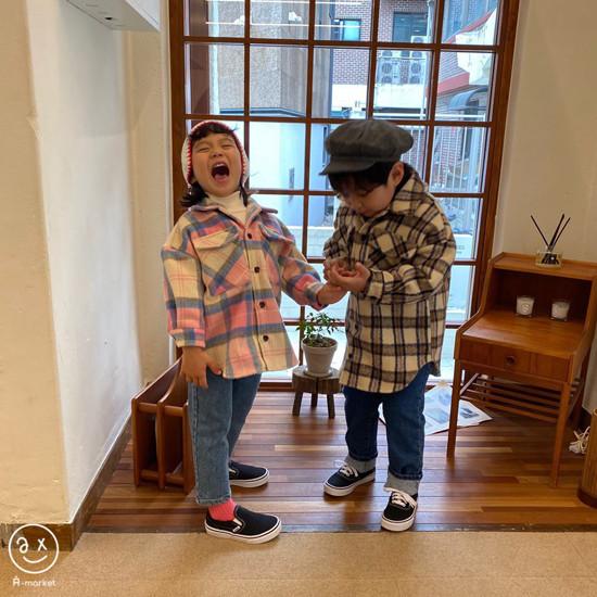 A-MARKET - Korean Children Fashion - #Kfashion4kids - Wool Check Shirt - 7