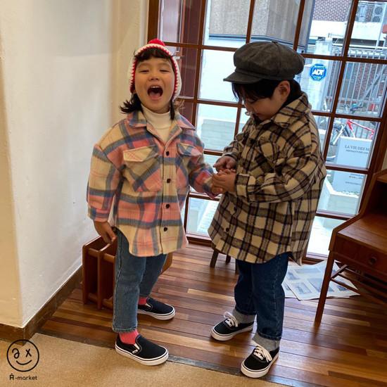 A-MARKET - Korean Children Fashion - #Kfashion4kids - Wool Check Shirt - 8