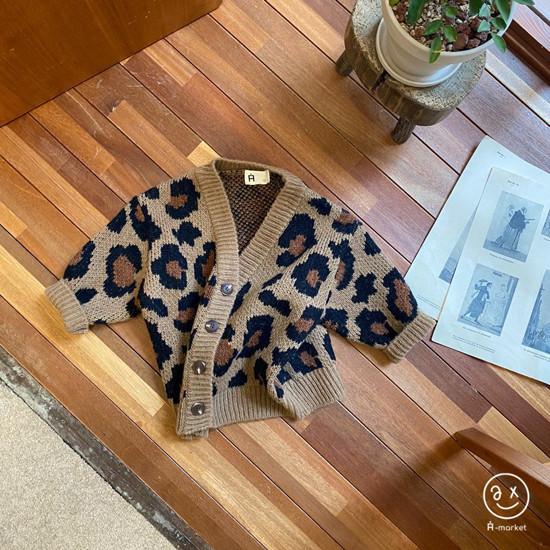 A-MARKET - Korean Children Fashion - #Kfashion4kids - Leopard Cardigan