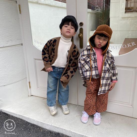 A-MARKET - Korean Children Fashion - #Kfashion4kids - Leopard Cardigan - 10