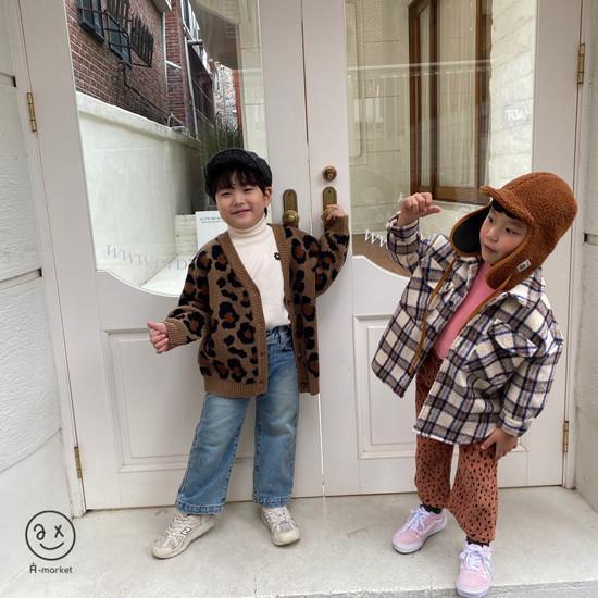 A-MARKET - Korean Children Fashion - #Kfashion4kids - Leopard Cardigan - 11