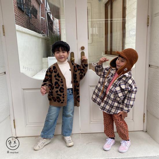 A-MARKET - Korean Children Fashion - #Kfashion4kids - Leopard Cardigan - 12