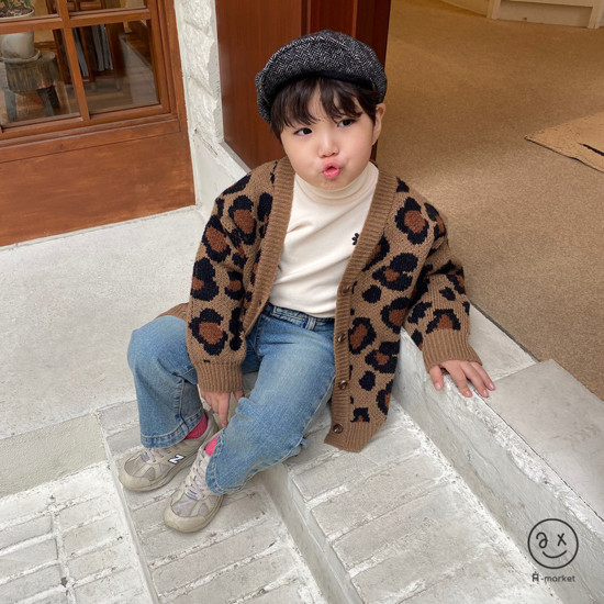 A-MARKET - Korean Children Fashion - #Kfashion4kids - Leopard Cardigan - 2