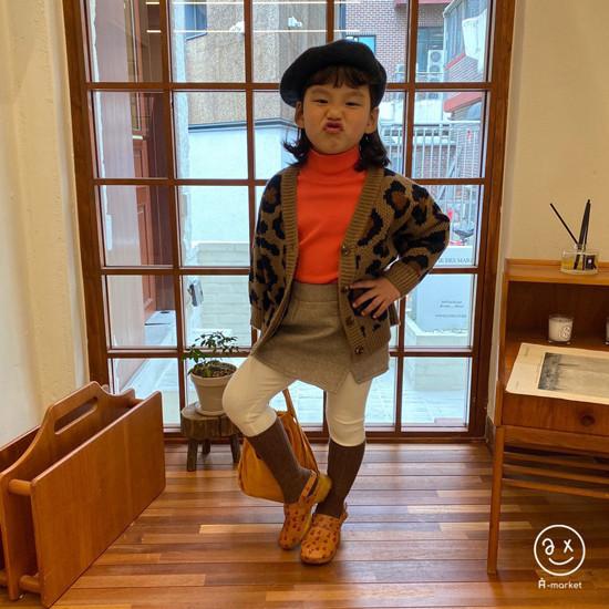 A-MARKET - Korean Children Fashion - #Kfashion4kids - Leopard Cardigan - 4