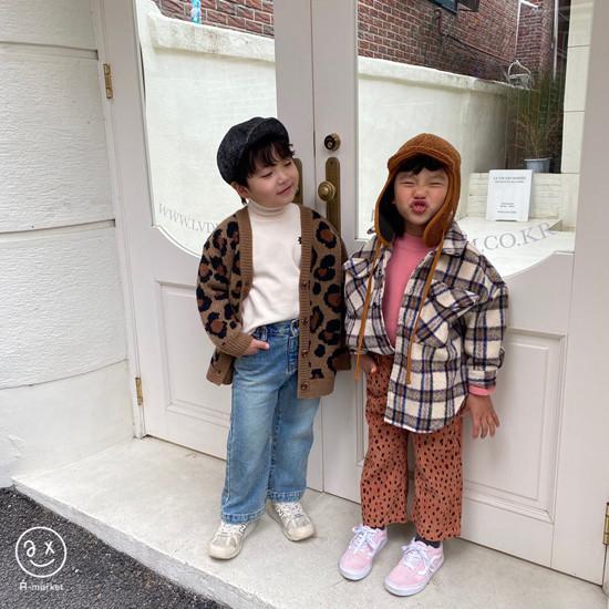 A-MARKET - Korean Children Fashion - #Kfashion4kids - Leopard Cardigan - 6