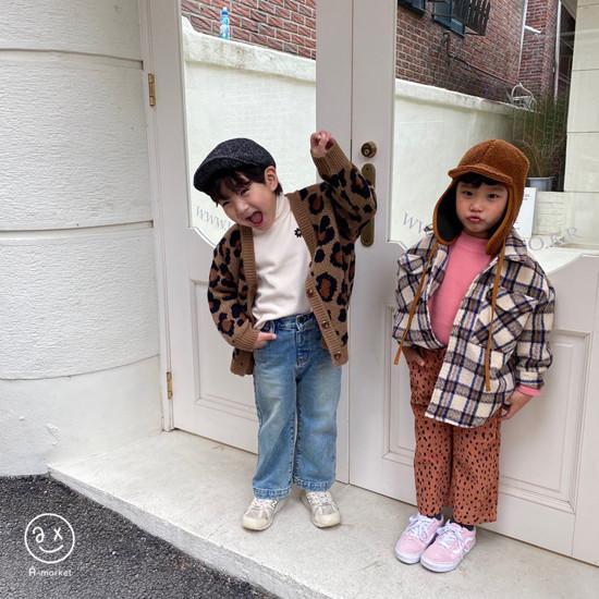 A-MARKET - Korean Children Fashion - #Kfashion4kids - Leopard Cardigan - 7