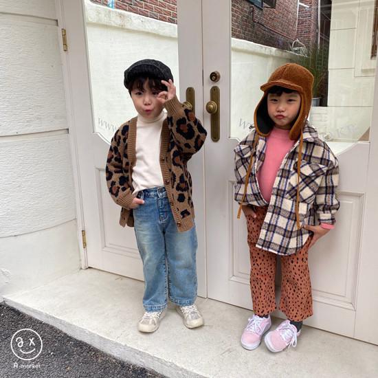 A-MARKET - Korean Children Fashion - #Kfashion4kids - Leopard Cardigan - 8