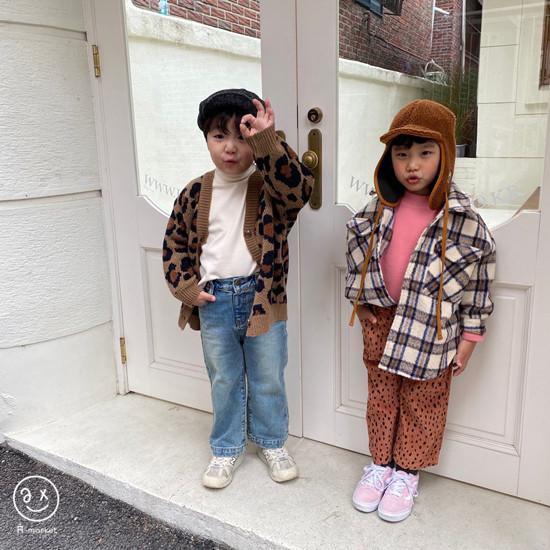 A-MARKET - Korean Children Fashion - #Kfashion4kids - Leopard Cardigan - 9