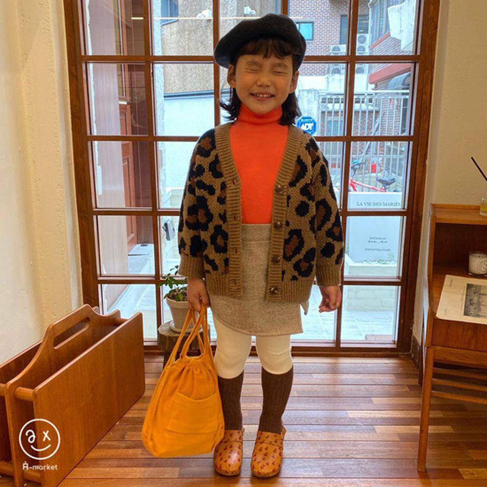 A-MARKET - BRAND - Korean Children Fashion - #Kfashion4kids - Leopard Cardigan