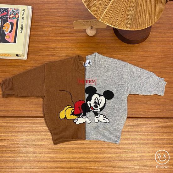 A-MARKET - Korean Children Fashion - #Kfashion4kids - Start Mickey Knit Pullover
