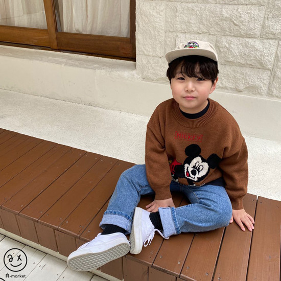 A-MARKET - Korean Children Fashion - #Kfashion4kids - Start Mickey Knit Pullover - 10