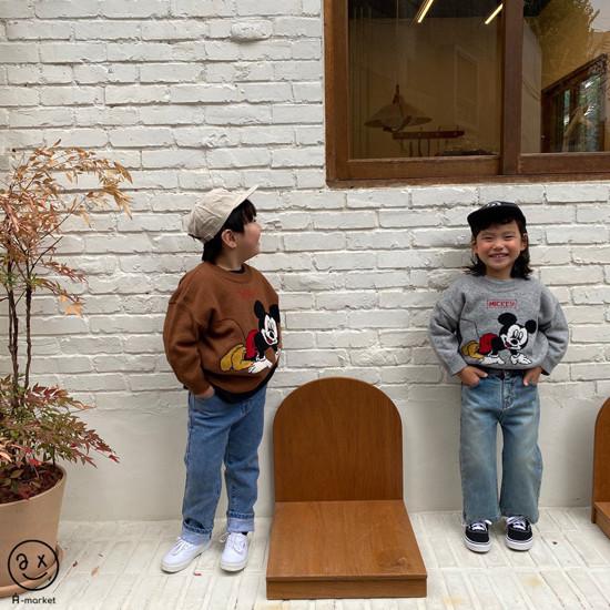 A-MARKET - Korean Children Fashion - #Kfashion4kids - Start Mickey Knit Pullover - 11