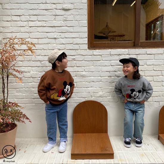 A-MARKET - Korean Children Fashion - #Kfashion4kids - Start Mickey Knit Pullover - 12