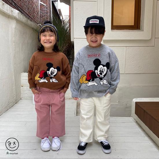 A-MARKET - Korean Children Fashion - #Kfashion4kids - Start Mickey Knit Pullover - 3