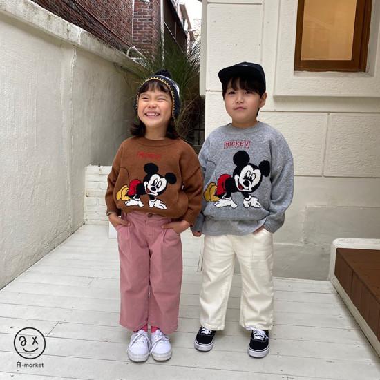 A-MARKET - Korean Children Fashion - #Kfashion4kids - Start Mickey Knit Pullover - 4