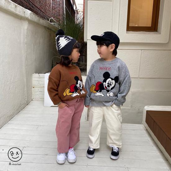 A-MARKET - Korean Children Fashion - #Kfashion4kids - Start Mickey Knit Pullover - 5
