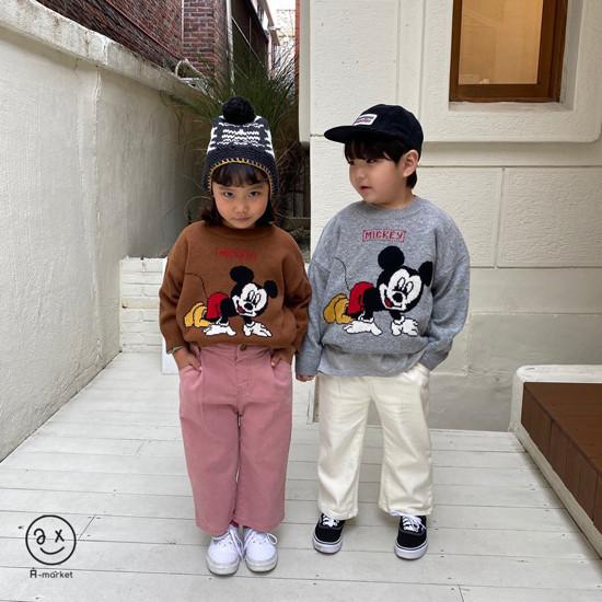 A-MARKET - Korean Children Fashion - #Kfashion4kids - Start Mickey Knit Pullover - 6