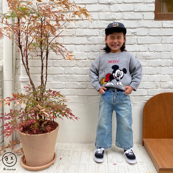 A-MARKET - Korean Children Fashion - #Kfashion4kids - Start Mickey Knit Pullover - 7