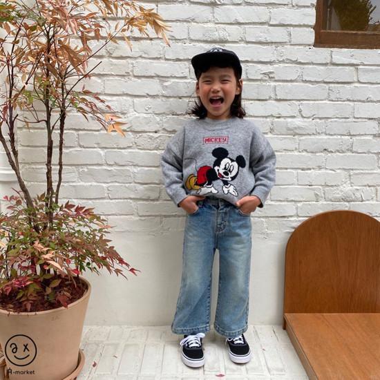A-MARKET - Korean Children Fashion - #Kfashion4kids - Start Mickey Knit Pullover - 8
